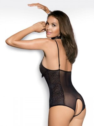 OBSESSIVE - DIAMOND teddy black